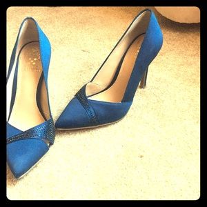 6 1/2 Royal Blue Vince Camuto heels